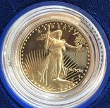 10 $ 1990 год США золото 8,48 грамм 916,7', фото №3