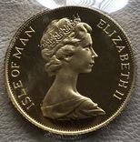 1 соверен 1973 год Остров Мэн золото 7,99 грамм 917', фото №3