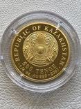 Казахстан 500 тенге 2007 год золото 999' 7,78 грамм бриллианты, фото №3