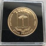 30000 франков 1993 год Экваториальная Гвинея золото 33,93 грамма 917', фото №5