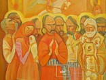 Картина художник М. Чорний, благословение, холст, масло, размеры картины 73 х 117 см, фото №5