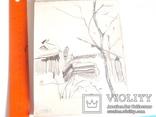 Два ранних рисунка ЗХУ Ерёмина Б.А. + блокнот с набросками, фото №5
