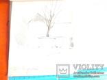 Два ранних рисунка ЗХУ Ерёмина Б.А. + блокнот с набросками, фото №7
