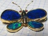 Золотой кулон-брошка с опалами, фото №2