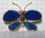 Золотой кулон-брошка с опалами, фото №3