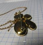 Золотой кулон-брошка с опалами, фото №9
