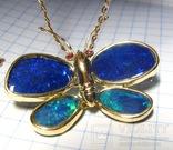 Золотой кулон-брошка с опалами, фото №10