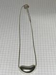 Серебристый кулон на цепочке (д) фото 3