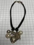 Винтажный браслет серебро 925 на шнурке