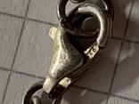 Винтажный браслет серебро 925 на шнурке фото 3