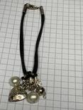 Винтажный браслет серебро 925 на шнурке фото 5
