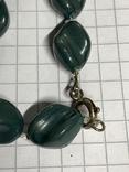 Винтажные зелёные бусы с Англии фото 3