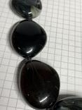 Винтажные чёрные бусы с Англии 82 грамма фото 2