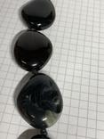 Винтажные чёрные бусы с Англии 82 грамма фото 3
