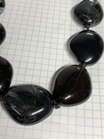 Винтажные чёрные бусы с Англии 82 грамма фото 4