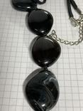Винтажные чёрные бусы с Англии 82 грамма фото 6