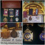 Масонский орден знак медаль сертификат серебро, фото №2