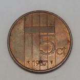 Нідерланди 5 центів, 1987