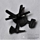 Знак Кокарда на фуражку Пожарника ОГПУ РСФСР, копия, 1920гг, фото №7