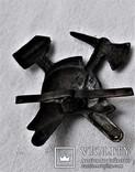 Знак Кокарда на фуражку Пожарника ОГПУ РСФСР, копия, 1920гг, фото №9