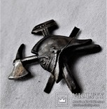 Знак Кокарда на фуражку Пожарника ОГПУ РСФСР, копия, 1920гг, фото №12