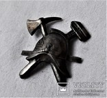 Знак Кокарда на фуражку Пожарника ОГПУ РСФСР, копия, 1920гг, фото №13