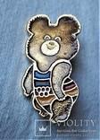 Знак Медведь мишка Олимпиада 1980 г, Москва, фото №2