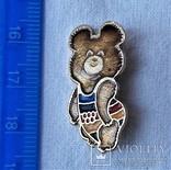 Знак Медведь мишка Олимпиада 1980 г, Москва, фото №3