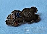 Знак Медведь мишка Олимпиада 1980 г, Москва, фото №8