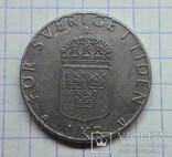 Швеция 1 крона 1977, фото №3