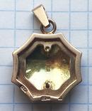 Кулон с эмалями, золото 583 проба., фото №3