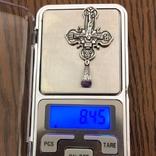 Хрест Срібло 925 проба. 8,45 грама., фото №4