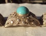 Браслет серебро, скань, зернь., фото №6