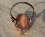 Кольцо с кораллом, арт-деко., фото №9