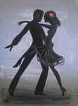 Картина, Танго, 15х20 см. Живопись на холсте, фото №3