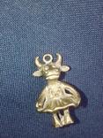 Коллекционная миниатюра Коровка - Красотка. Бронза. Брелок, фото №10