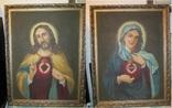 Пара народных икон. Святейшее сердце Иисуса Христа и Непорочное Сердце Девы Марии, фото №2