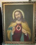 Пара народных икон. Святейшее сердце Иисуса Христа и Непорочное Сердце Девы Марии, фото №3