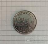 100 франков 1954г Франция, фото №2