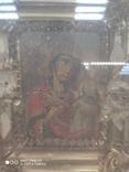 Богородица в фигурном киоте. 31х36см., фото №3
