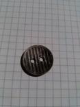Пуговица в полоску, материал: алюминий, 1 шт, фото №2