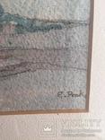 """Картина """"Православный собор"""", акварель на бумаге, подписная. Ориентир.начало 20 века., фото №4"""