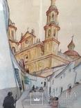 """Картина """"Православный собор"""", акварель на бумаге, подписная. Ориентир.начало 20 века., фото №5"""