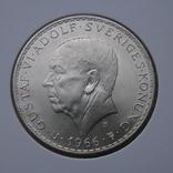 5 крон 1966. Швеция(серебро) aUNC, фото №2