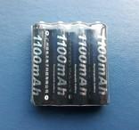 Аккумуляторы PALO тип AAA, Ni-Mh 1100mAh Мизинчиковые (4шт), фото №2