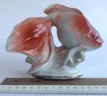 Статуэтка  Золотая рыбка. Клеймо КТК.  Фарфор СССР, Грузия Тбилиси 1959-60 г.г., фото №7