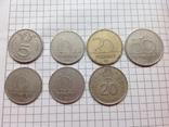 Монеты Венгрии 5, 10, 20 и 50 Форинт 7шт в лоте 1972-2003г, фото №2