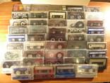 Аудиокассеты импортные б.у разные в лоте 44 штуки, фото №2