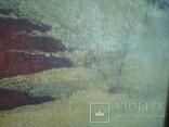 Картина,холст,масло, Зима,деревня,48/36см.50-е года, фото №6