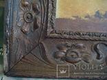 Картина,холст,масло, Зима,деревня,48/36см.50-е года, фото №7